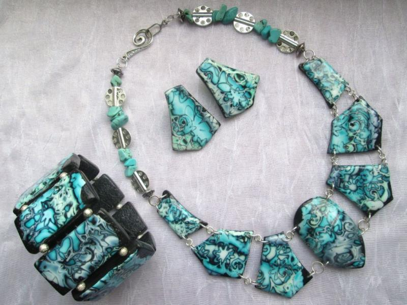Dream from Egypt - Necklace, bracelet and earrings set